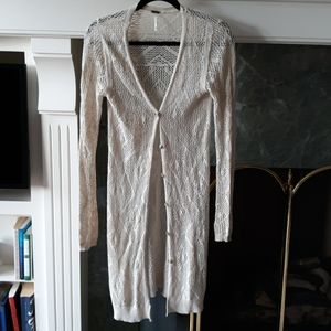 Free people XS long sweater tan color